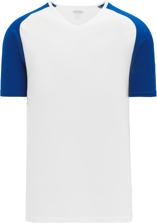 Raglan Pullover Baseball Jersey - White/Royal