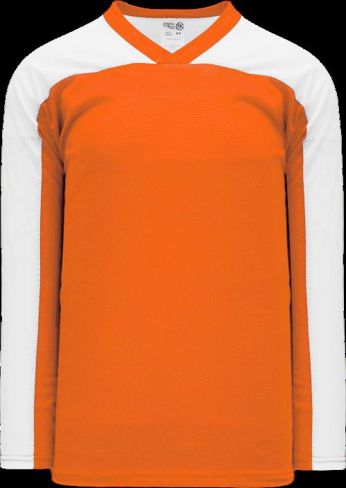 LF153 Polymesh Box Lacrosse Jersey - Orange/White