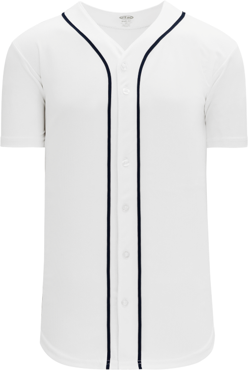 Detroit Tigers Style Full Button MLB Style Home Jersey
