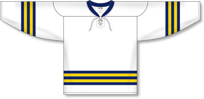 University of Michigan  Style White Hockey Jersey