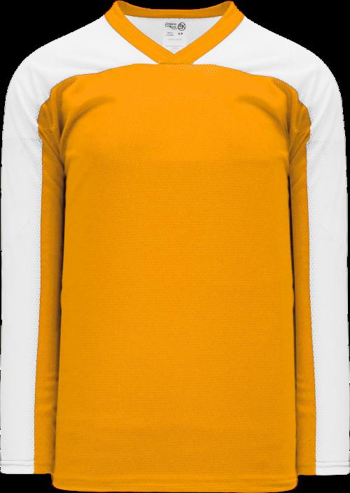 LF153 Polymesh Box Lacrosse Jersey - Gold/White