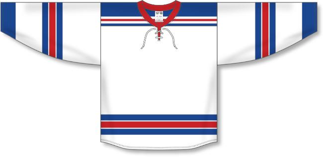 New York Rangers Style White Hockey Jersey
