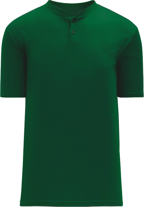 Basic Two Button Baseball Jersey - Forest