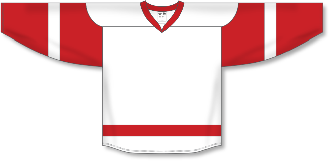 Detroit Red Wings Style White Hockey Jersey
