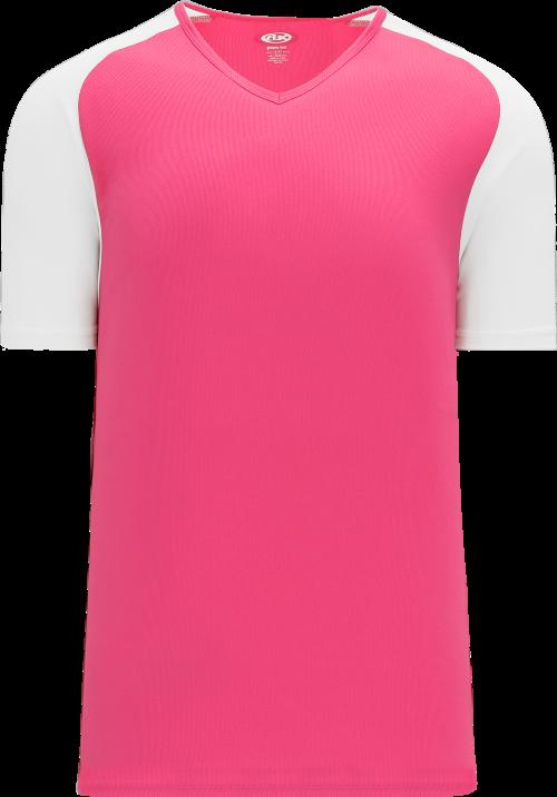 Raglan Pullover Baseball Jersey - Pink/White